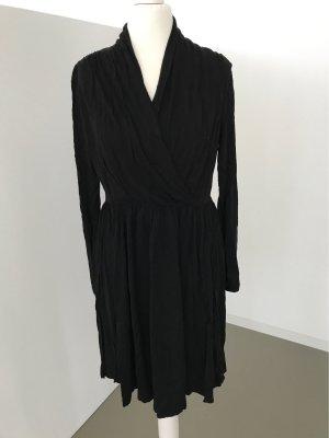 H&M Kopertowa sukienka czarny Wiskoza
