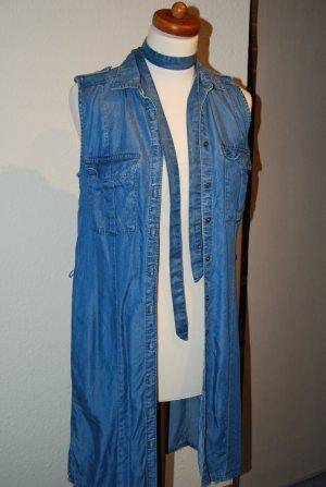 Kleid Jeans Denim Look leichtes Tencel auch als Weste Gr. 36