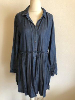 Kleid Jeanskleid Blusenkleid Babydoll Denim Gr. 42