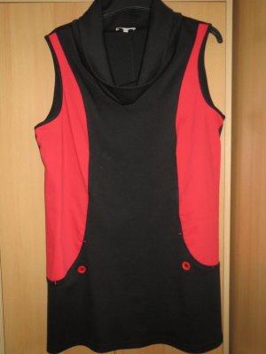 Kleid, Jersey-Shirtkleid, Gr.42/M, schwarz-rot