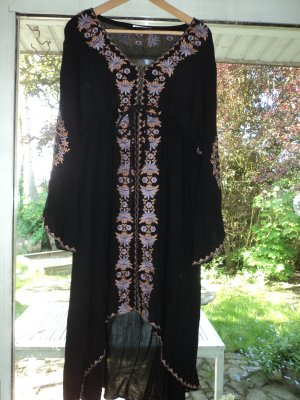 Caftan multicolored mixture fibre