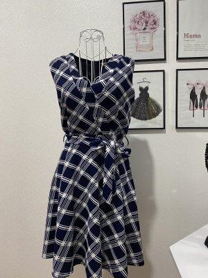 Kleid kariert blau Gr M