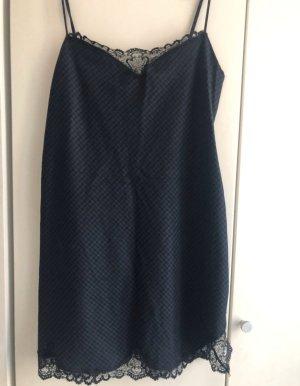Kleid kariert Spitze L Zara