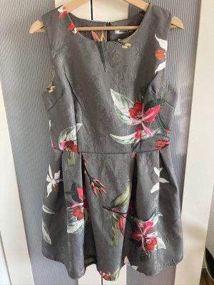 Kleid - khaki - gemustert