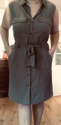 Kleid Khaki mit Gürtel