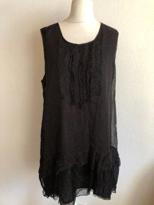 Kleid Kleidchen Minikleid Babydoll locker lässig schwarz Gr. 42