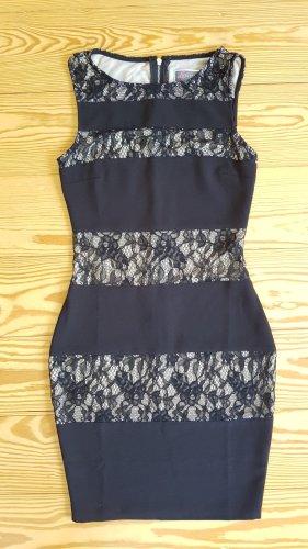 Kleid kleines schwarzes mit Spitze und Reißverschluss