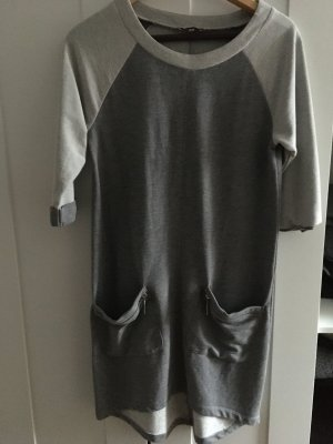 Aniston Robe mi-longue argenté-gris anthracite coton