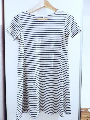 Kleid kurz mini tailliert mit Rundhals-Ausschnitt  mit Streifen, Größe M