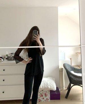 Kleid kurz schwarz (langes Oberteil)