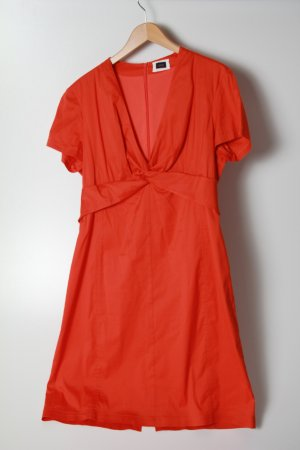 Kleid kurzarm orange