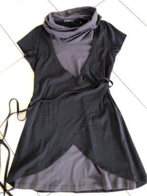 Zero Robe à manches courtes gris anthracite-noir