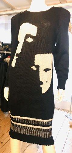Kyra Vestido de lana negro-blanco
