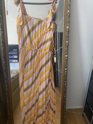 Kleid L 40 Maxikleid Second female beige gelb nude
