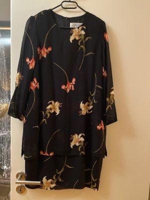 Kleid L 40 schwarz Midikleid