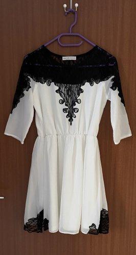 Kleid Lace Spitze Rare London weiß schwarz Gr. 36 S