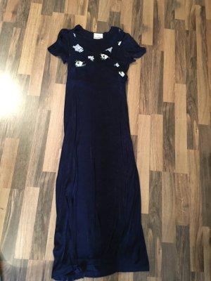 Kleid lang blau 36