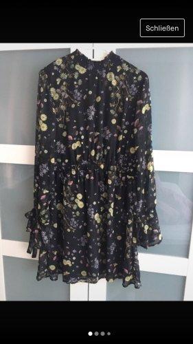 Kleid langarm geblümt Gr 38