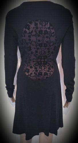Kleid, langarm, Spitzeneinsatz / Spitze am Rücken, Dibari
