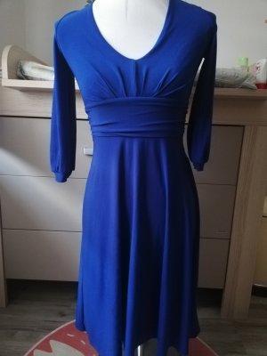 Kleid Langarmkleid königsblau royalblau Gr. 36