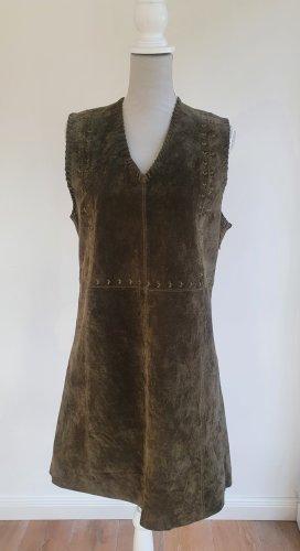 Pepe Jeans Vestido de cuero ocre