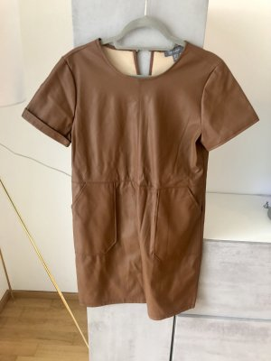 Kleid Leder Optik Primark 42 braun