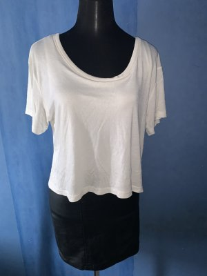 H&M Robe en cuir noir-blanc