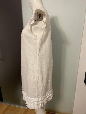 Kleid Leinen -Baumwolle  Gr 36 S weiß