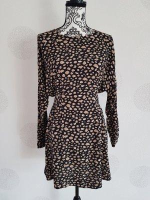 Zara Longsleeve Dress black-beige