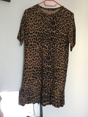 Boohoo Shortsleeve Dress camel-black