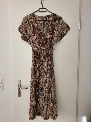 Kleid leoprint maxi