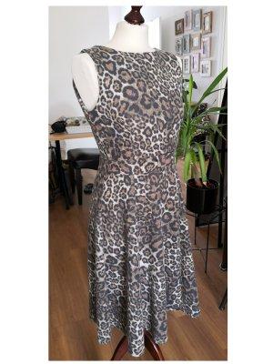 Kleid Leoprint - Zara – braun schwarz creme  - L