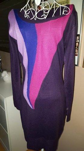 Bodyflirt Abito maglione viola scuro Tessuto misto