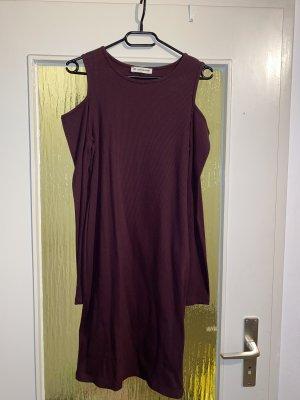 24Colours Falda estilo lápiz violeta amarronado