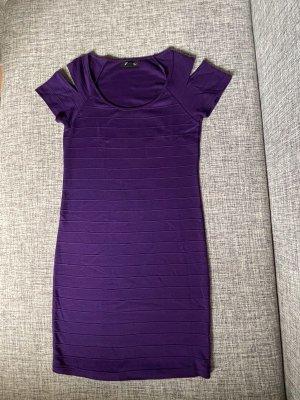 Kleid lila violett Gr. L Bodycon Kleid figurbetont mit Cut-outs