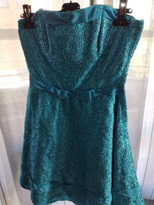 ASOS DESIGN Petite Suknia wieczorowa jasnoniebieski-niebieski neonowy
