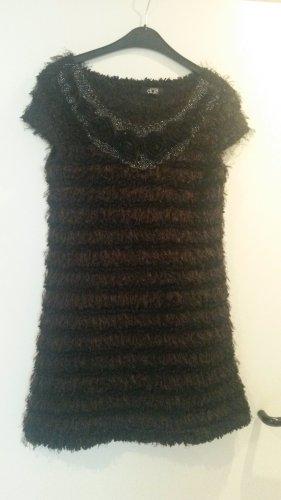 Kleid long Pullover Strick Kleid Schrickkleid Glitzer Weihnacht VESTINO DUE  M L