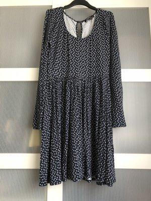 Kleid M blau weiss