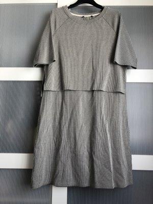 Kleid M grau schwarz