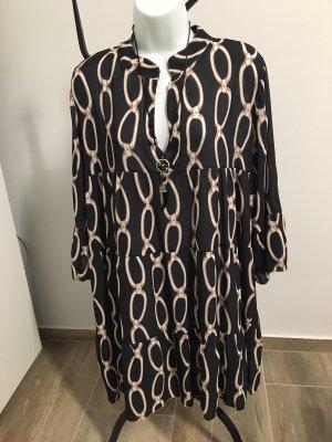 Robe tunique noir-crème