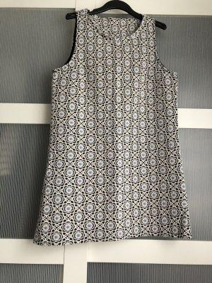 Kleid M weiss schwarz blau