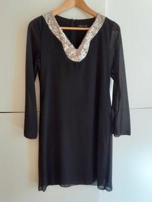 Made in Italy Robe chiffon noir