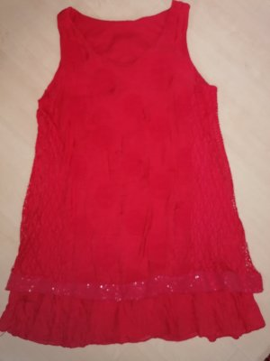 Made in Italy Lace Dress red
