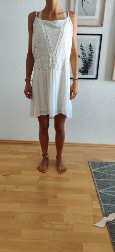 Mango Beach Dress white-natural white viscose