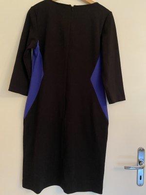 Kleid manguun schwarz blau Gr. 40 langarm