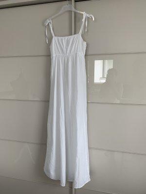 Kleid Maxi Esprit 36 Weiß Baumwolle