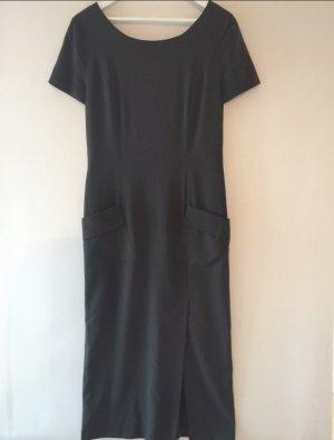 Kleid Maxi Seeler True Vintage dunkelgrün Größe 42 Schulterpolster