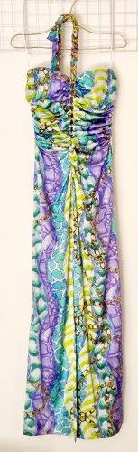 Blumarine Maxi Dress multicolored silk