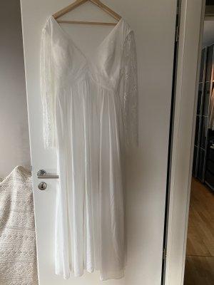 Kleid Maxikleid Brautkleid L 40 weiß Spitze