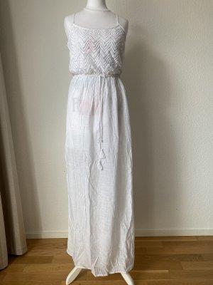 Kleid Maxikleid Kleid Sommerkleid Freizeitkleid Strandkleid Größe S weiß